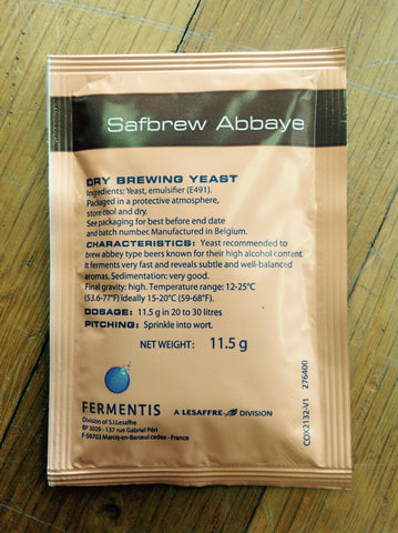 SAFBREW BE-256 Abbaye Dry Yeast, 11.5g