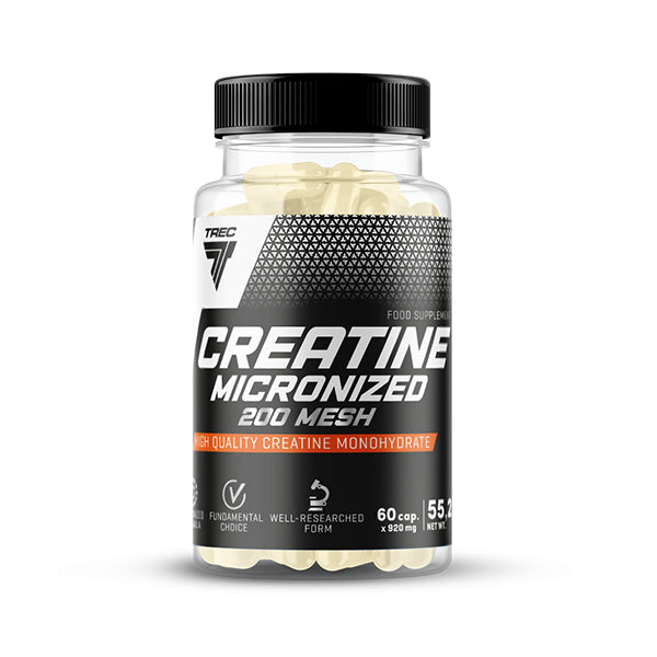 CREATINE MICRONIZED 200MESH 60CAPS TREC