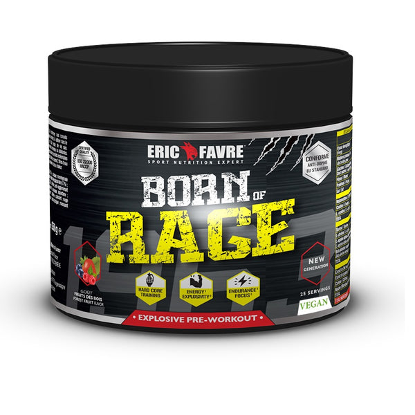 Pre Workout Booster Explosif Born Of Rage Vegan FAVRE - Diét-éthique