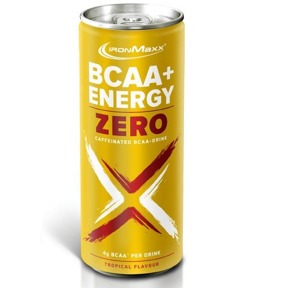 BCAA + ENERGY DRINK ZERO - 330ML- TROPICAL IRON MAXX - Diét-éthique