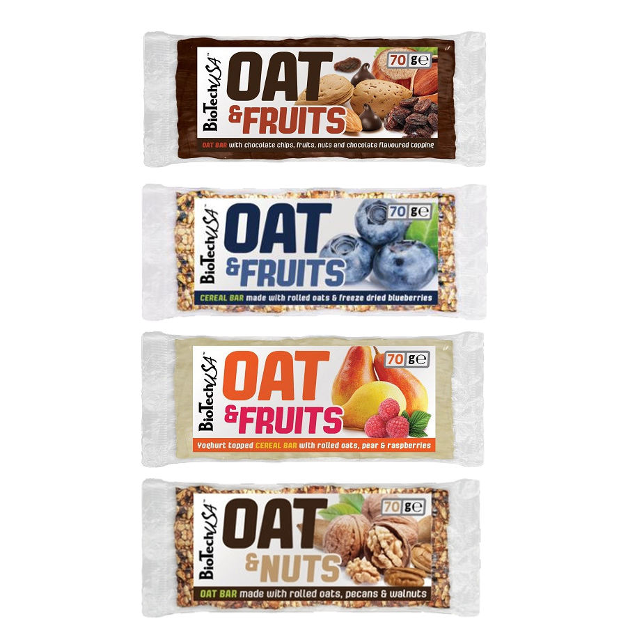 OAT & FRUITS 20x70gr  BIOTECH