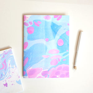 DIY Marbled Notebook