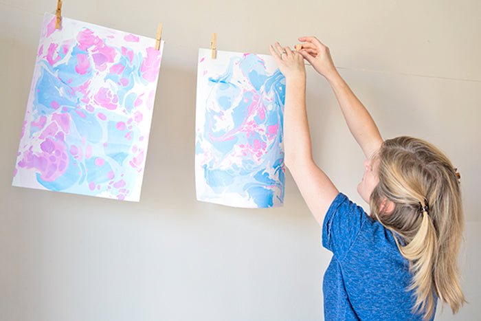 diy paper marbling tutorial