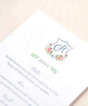 Chateau Wedding Menu