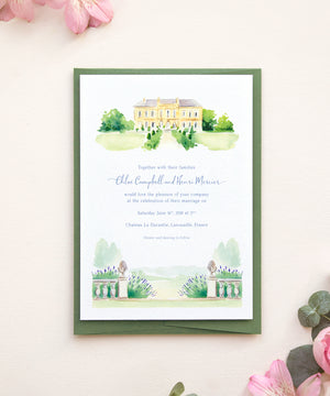 Chateau Invitation and RSVP