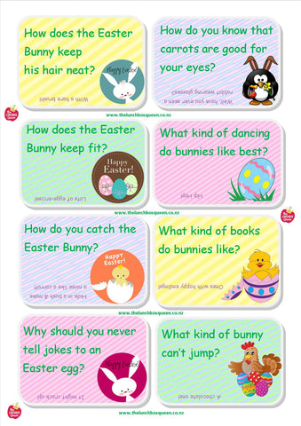 Lunchbox Easter Jokes Free Printable The Lunchbox Queen