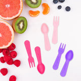 Mini Fork and Spoon Set (set of 6) - Pink