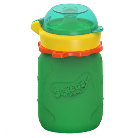 Silicone Squeasy Snacker Yoghurt, Baby Food, & Drink Pouch - Small 105ml Green