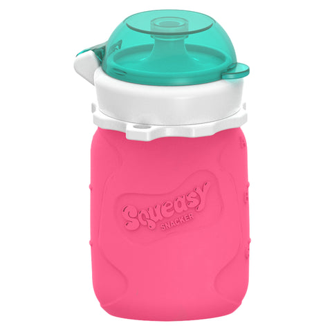 Silicone Squeasy Snacker Yoghurt, Baby Food, & Drink Pouch - Small 105ml Pink. MORE COMING VERY SOON.