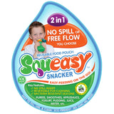 Silicone Squeasy Snacker Food & Drink Pouch - Medium 180ml Green
