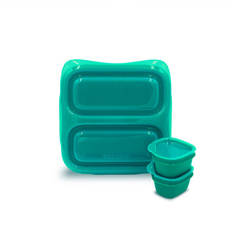 Goodbyn Small Meal + 2 Leakproof Dippers - Aqua Green