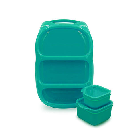 Goodbyn Bynto Lunchbox + 2 Leakproof Dippers - Aqua Green