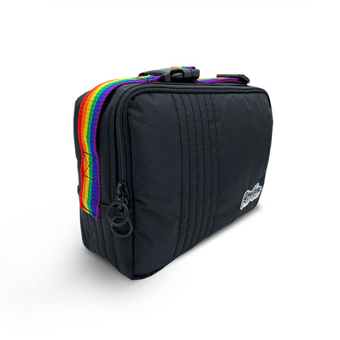 Goodbyn Machine Washable Insulated Lunch Bag - Black & Rainbow