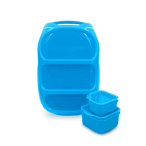 Goodbyn Bynto Lunchbox + 2 Leakproof Dippers - Blue