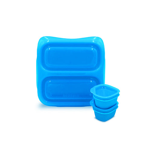 Goodbyn Small Meal + 2 Leakproof Dippers - Blue