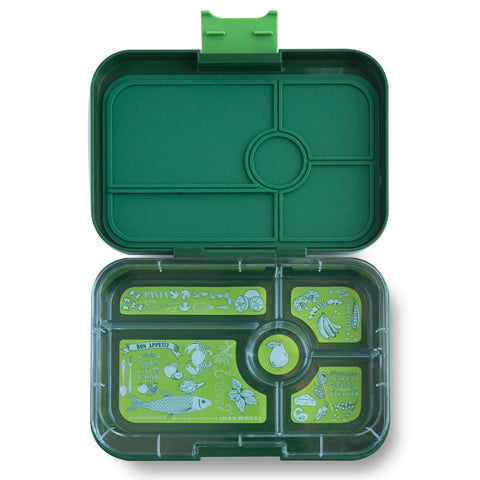 Yumbox Tapas Large Bento Lunchbox (5 compartments) – BROOKLYN GREEN. MORE ARRIVING AROUND 20 JULY. PRE-ORDER NOW!