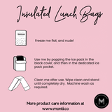 Montii Insulated Lunch Bag - Leopard (Includes Ice Pack)