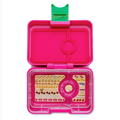 Yumbox MiniSnack Bento Lunchbox (3 compartments) – Cherie Pink