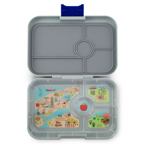 Yumbox Tapas Large Bento Lunchbox (4 compartments) – Flat Iron Grey. ARRIVING THIS WEDNESDAY 12 AUGUST.