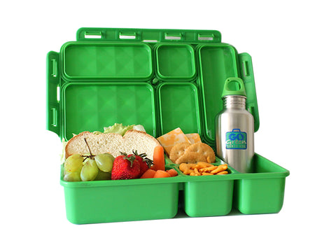 Go Green Lunch Set - Superhero. (Lunchbox + insulated bag + drink bottle + ice pack.) 2 Colour Options.