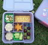 Bento Five Lunchbox - Yellow Glitter (5 compartments)