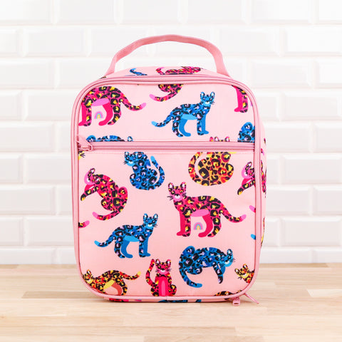 MontiiCo Insulated Lunch Bag - Jungle Cats (Includes Ice Pack)
