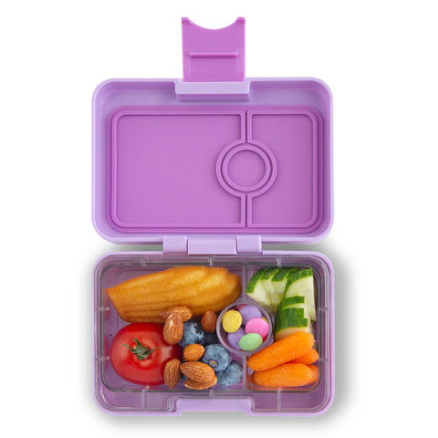 Yumbox MiniSnack Bento Lunchbox (3 compartments) – Lila Purple