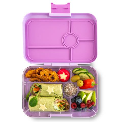 Yumbox Tapas Large Bento Lunchbox (5 compartments) – Lila Purple. ARRIVING 16 DECEMBER. PRE-ORDER NOW!