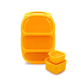 Goodbyn Bynto Lunchbox + 2 Leakproof Dippers - Neon Orange