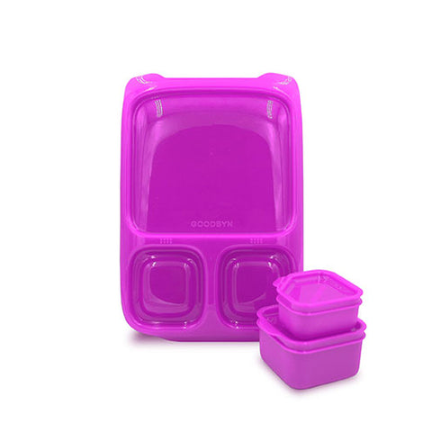 Goodbyn Hero Lunchbox + 2 Leakproof Dippers - Purple. ARRIVING 28 JAN. PRE-ORDER NOW!