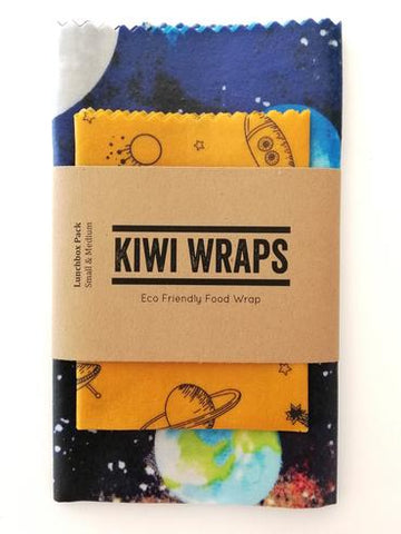 "Kiwi Wraps Reusable Sandwich Wrap - Lunch Pack ""Intergalactic"""