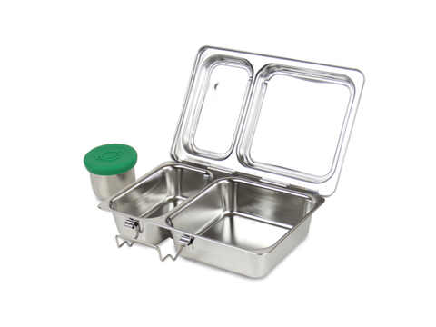 PlanetBox SHUTTLE Stainless Steel Bento Box - (3.5 Cups, 2 Large Compartments). LAST ONE!