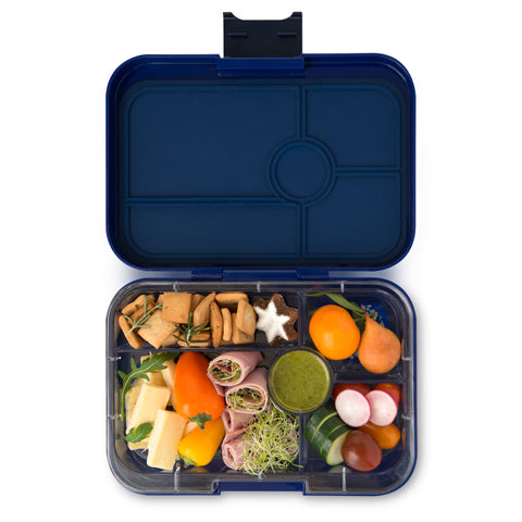 Yumbox Tapas Large Bento Lunchbox (5 compartments) – Portofino Blue. MORE ARRIVING AROUND 20 JULY. PRE-ORDER NOW!