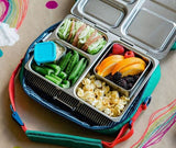 PlanetBox LAUNCH Stainless Steel Bento Lunchbox - (3 Large Compartments). EXPECTED TO ARRIVE LATE JULY. PRE-ORDER NOW!