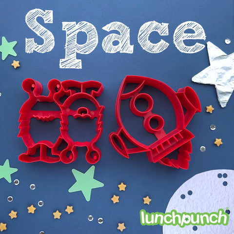 "Lunch Punch Pairs ""Space"" Sandwich Cutters (set of 2)"