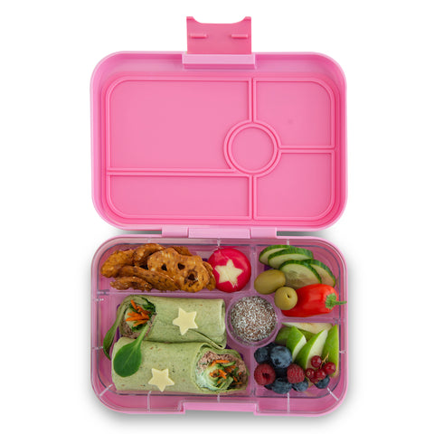 Yumbox Tapas Large Bento Lunchbox (5 compartments) – Stardust Pink. ARRIVING 16 DECEMBER. PRE-ORDER NOW!