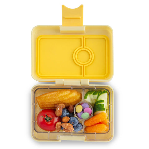 Yumbox MiniSnack Bento Lunchbox (3 compartments) – Sunburst Yellow