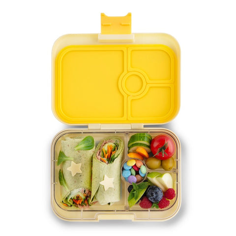 Yumbox Panino Bento Lunchbox (4 compartments) - Sunburst Yellow