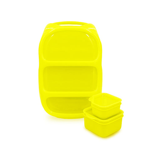 Goodbyn Bynto Lunchbox + 2 Leakproof Dippers - Neon Yellow