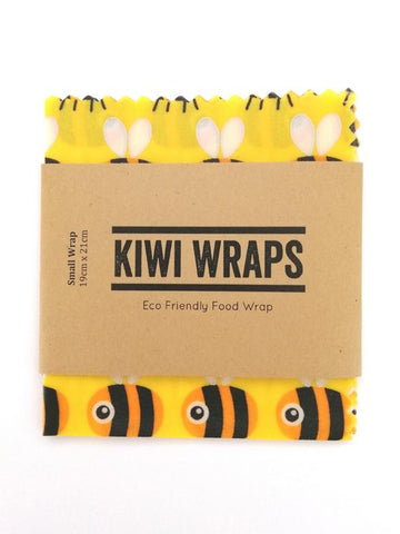 "Kiwi Wraps Reusable Sandwich Wrap - Small ""Big Buzz"""