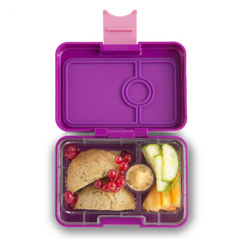 Yumbox MiniSnack Bento Lunchbox (3 compartments) – Bijoux Purple