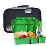 Go Green Lunch Set - Black. (Lunchbox + insulated bag + drink bottle + ice pack.) 2 Colour Options.