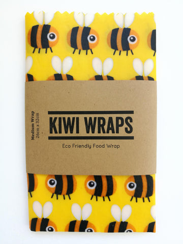 "Kiwi Wraps Reusable Sandwich Wrap - Medium ""Big Buzz"""