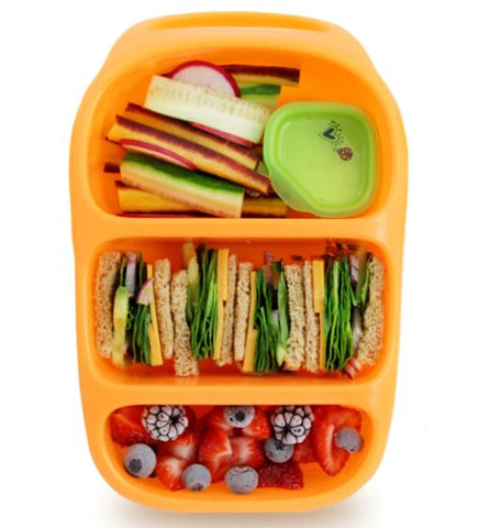 Goodbyn Bynto Lunchbox + 2 Leakproof Dippers - Neon Orange. LAST ONE!