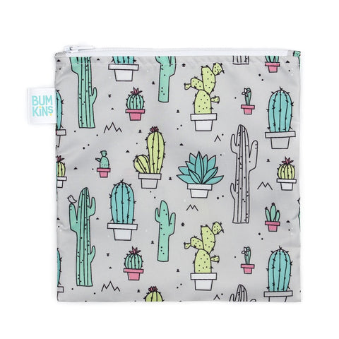 Bumkins Large Snack/Sandwich Bag - Cacti