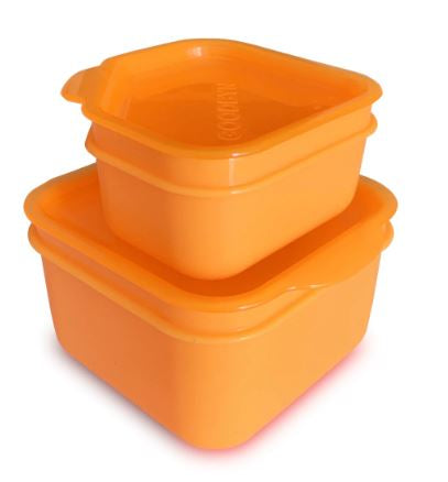 Goodbyn Leakproof Dipper Set - Neon Orange