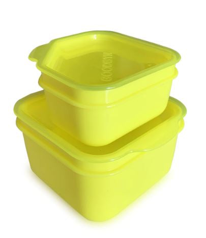Goodbyn Leakproof Dipper Set - Neon Yellow