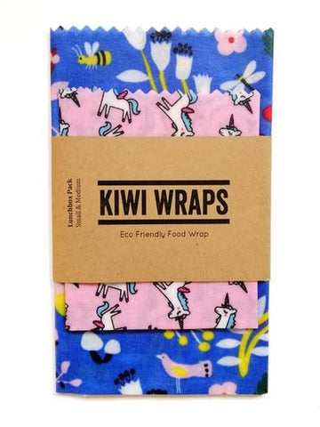 "Kiwi Wraps Reusable Sandwich Wrap - Lunch Pack ""Fairytale"""
