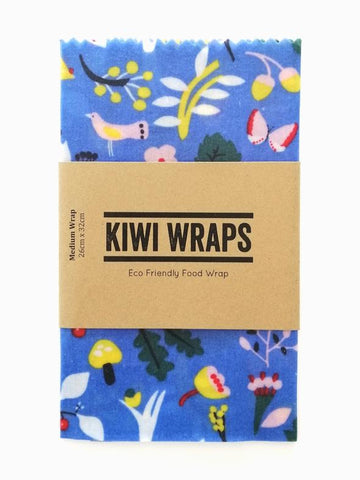 "Kiwi Wraps Reusable Sandwich Wrap - Medium ""Flora and Fauna"""