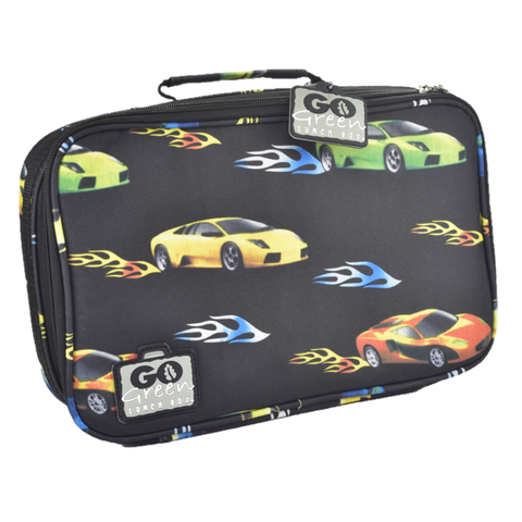 go green large lunchbox set cars NZ best sale